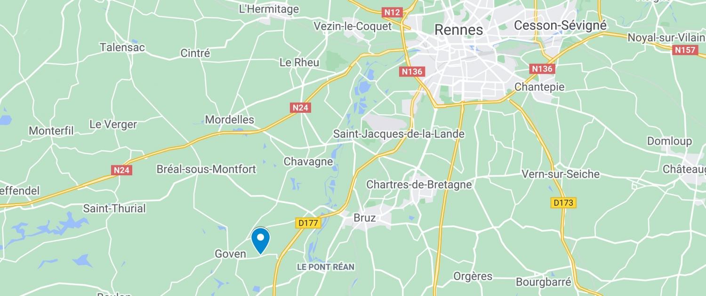 carte-localisation-Swin-Golf-de-la-Roche-a-Goven-en-Ille-et-Vilaine